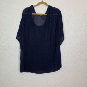 Torrid 3X light loose knit sweater navy blue